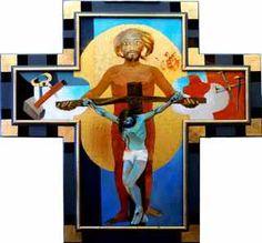 Arcabas 2013 Crucifixion. Lissieu (Rhône). Matière : Huile sur toile