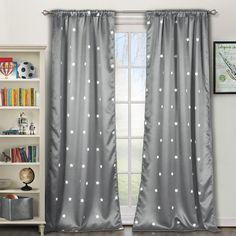 LaLa Bash - Set of 2 Gruden Heavy Blackout Pole Top Panels in Gray