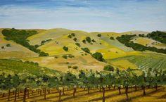 Paso Robles Vineyard, Alexandra Kube, Painting