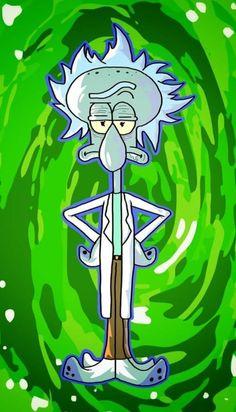 Rick and Morty x SpongeBob