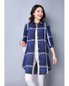 AB75133 Checker Long Top Blue Market Price: £ 18.43 Price: £ 9.30 Registered users: £ 9.30 Weight: 300g more: http://www.zafirah7.com/goods-16142-AB75133+Checker+Long+Top+Blue.html