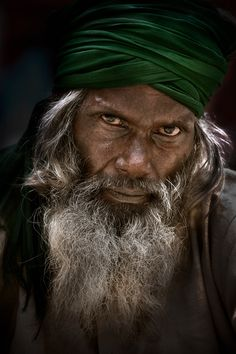 Street portrait, Old Delhi, India, by Ian Mylam.
