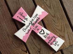 hand painted decorated 11 wooden wall cross decor by PoppyPosters, $19.99