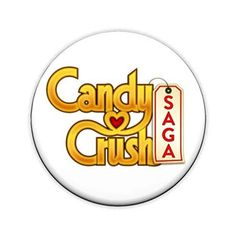 Candy Crush Saga pinback button