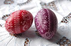 Festett húsvéti tojás Painted easter eggs