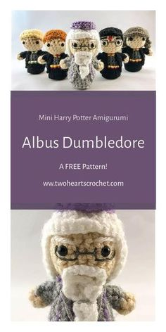 Crochet Albus Dumbledore Doll Pattern | Harry Potter Dumbledore Pattern | HP Amigurumi | Crochet Harry Potter Patterns | Mini Amigurumi | Crochet Dolls | Albus Dumbledore Crochet | Crochet Wizard Pattern | Crochet Wizard Doll