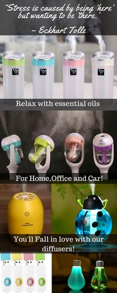 Free shipping on all of our essential oils diffusers! Let aromatherapy transport you to your happy place. Diffusers for the car, home and office.