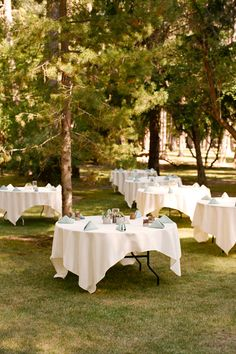 You can have cloths drop to the ground.  Just look at the sage napkins with white or cream tablecloth
