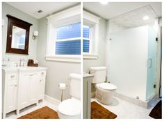 vanity style and opaque shower