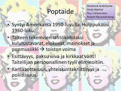 KU 1 - Minä, kuva ja kulttuuri  pop-taide