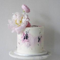 Sunflower Birthday Cakes, Cool Birthday Cakes, Beautiful Cakes, Amazing Cakes, Little Girl Cakes, Peony Cake, Soul Cake, Cake Story, Single Tier Cake