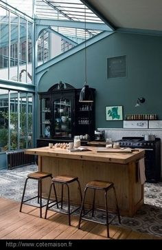 conservatory - kitchen http://reneefinberg.blogspot.com/