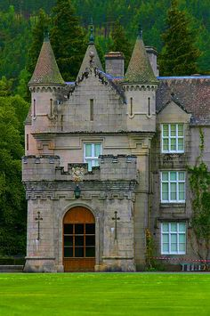 Medieval and haunted, Balmoral Castle in  Scotland is an intriguing place to visit. Photo via kate