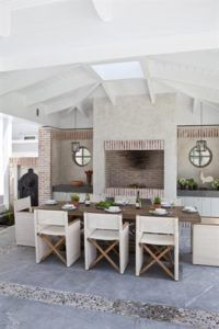 Homes   SA Garden and Home Outdoor Spaces, Outdoor Decor, Outdoor Kitchens, Built In Braai, Outdoor Gardens, Swimming Pools, New Homes, Patio, September