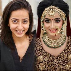 Indian bridal makeup by KritiDS – Bridal Wedding Ideas Bridal Makeup Images, Bridal Eye Makeup, Bridal Makeup Looks, Bride Makeup, Indian Wedding Makeup, Indian Bridal Wear, Indian Wedding Jewelry, Bridal Jewelry, Indian Makeup