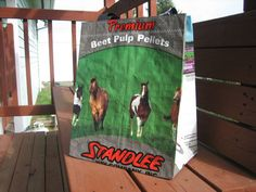 Market tote  Upcycled Horse Feed Sack  Gift Bag by FarmtownTotes, $10.00