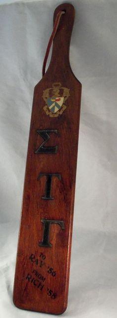 VTG Fraternity Paddle Sigma Tau Gamma Alpha Phi Chapter Southeast Missouri State Delta Phi Epsilon, Sigma Tau, Alpha Phi, Fraternity Paddles, Sorority And Fraternity, Spirit Sticks, Greek Paddles, Missouri, Ebay