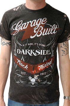 Darkside Clothing Garage Built Acid Wash Men's T-Shirt, £19.99