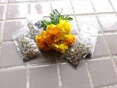 Mixed Marigold Seeds, Organic flower seeds, stocking stuffers, gardening, gift for her, gift for him, North Idaho organic flower seeds+  THIS IS