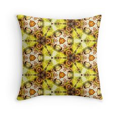"""""""Seamless pattern """"The abstract sketch"""""""" Throw Pillows by floraaplus 