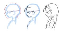 Digital Painting Tutorials, Digital Art Tutorial, Art Tutorials, Manga Drawing Tutorials, Drawing Techniques, Drawing Expressions, Anime Drawings Sketches, Identity Art, Art Poses