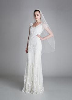 Glittering and gorgeous, the Temperley Bridal Elisha Dress has a delicate and…