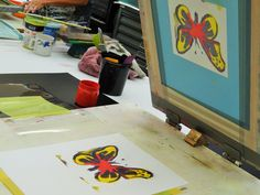Monoprint Monday at Ochre Print Studio