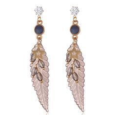 Fashion Feather Earrings Star Rhinestones Acrylic Dangle Earrings Gift for Girls Women online - NewChic Feather Earrings, Tassel Earrings, Dangle Earrings, Jewelry Sets, Women Jewelry, One Piece Bikini, Goods And Service Tax, Gifts For Girls, St Kitts And Nevis