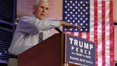 """Says """"Hillary Clinton has a really tough week"""" so """"they roll out the politics of divisiveness."""" (AP Photo/Chuck Burton)...........  #TrumpPence16"""