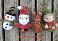 Christmas Crochet Pattern Christmas Ornament Crochet Pattern | Etsy