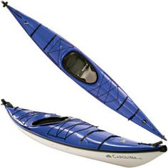 Beautiful blue kayak. I would never buy a blue kayak--horrible visibility in the water--but it sure is pretty.