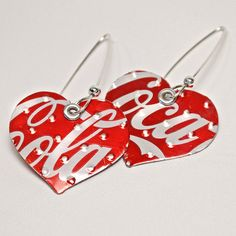 earrings made from recycled soda cans