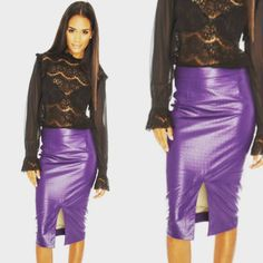 A #SneakPeek at our new #AW15 collections landing this weekend.. We do ❤ a Leatherette Pencil Skirt!  #Leatherette #Purple #PUSkirt #PU #PolyUrethane #Skirt #PencilSkirt #LeatherStyle #BudgetFriendly #Fashion #LiliesAndDreams #StStephenStreet #Stockbridge #Edinburgh #EdFashion @LiliesDreams