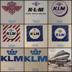KLM logo's II Vintage Travel Posters, Vintage Ads, Image Ball, Airport Architecture, Airline Alliance, Royal Dutch, Airline Logo, Air France, Nose Art