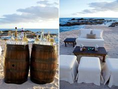 tequila tasting, cozy lounges on the beach