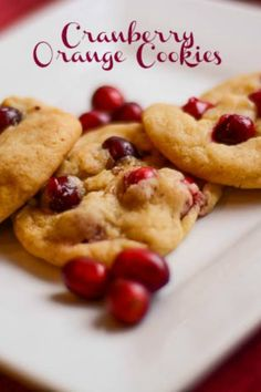 Cranberry Orange Christmas Cookies are soft, sweet, slightly tart, nutty cookies and will be a favorite on your cookie tray too.