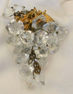Vintage 1940s WWII Dress Clip Grapes Cluster by Lauriechacha, $75.00