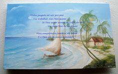 """Atelier de Arte Julainne: Paisagem marinha  """" Retorno da jangada"""""""