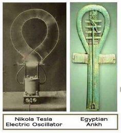 Nikola Tesla Electric Oscillator, and the Ancient Egyptian Ankh. Ancient Aliens, Ancient Egypt, Ancient History, Nikola Tesla, Architecture Antique, Ancient Artifacts, Ancient Civilizations, Sacred Geometry, Illuminati