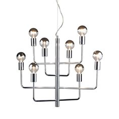 Bright, contemporary, and exceptionally bold, the Galaxy Pendant Light melds a mid-century modern motif with a futuristic bent. Refresh a modern room or living space with this shiny metal fixture featu...  Find the Galaxy Pendant Light, as seen in the Check Into The Hotel Lincoln Collection at http://dotandbo.com/collections/check-into-the-hotel-lincoln?utm_source=pinterest&utm_medium=organic&db_sku=109038