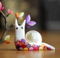 Милые улитки из полимерной глины SKRMASTER.RU — Handmade ярмарка России