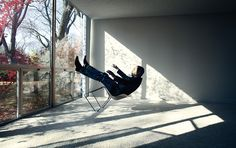 The innovator Carl Craig, photographed by Timothy Saccenti. Shot in a Mies Van Der Rohe-designed building