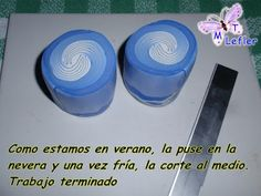 CLAY CRAFTS MT: CANE SWIRL (BLUE AND WHITE)