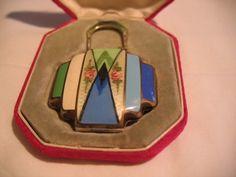 Vintage La Mode Art Deco Guilloche Compact- BEAUTIFUL MUST SEE!!! | eBay