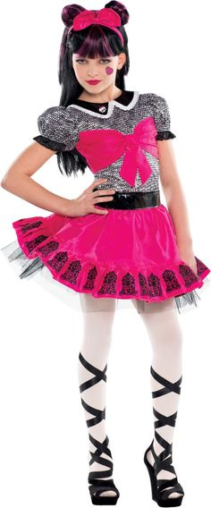 Girls Monster High Draculaura Costume - Party City