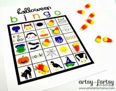 free printable halloween bingo in color + black + white   #halloween #printables