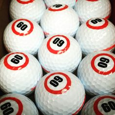 His first round of 60! (Years) #customgolfballs
