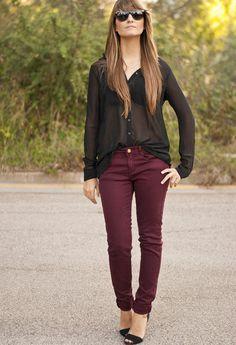 bordeaux jeans for CAbi