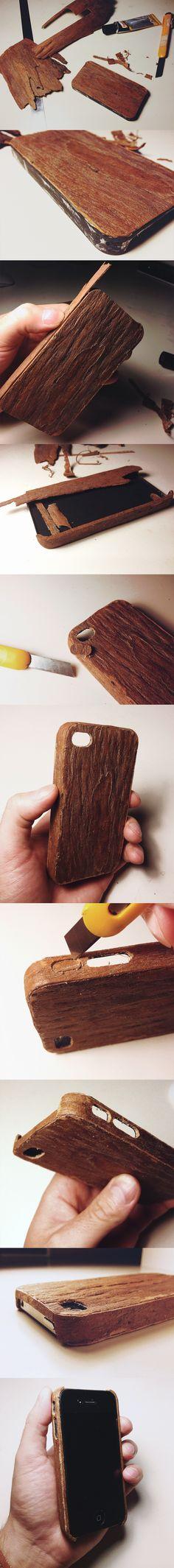 handmade wood case from used plastic case by Igor_Eezo