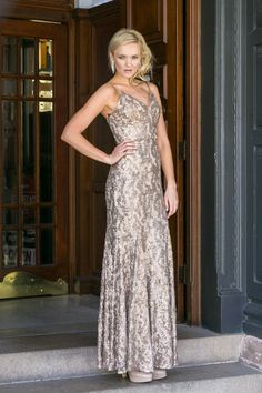 Mila Rose Gold Evening Dress by Tania Olsen Designs